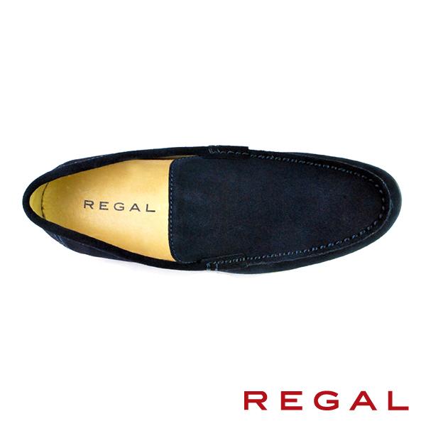 【REGAL】反絨皮雅痞樂福鞋 深藍(T89A-NVYS)