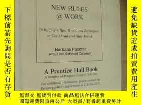 二手書博民逛書店NEW罕見RULES @ WORK 《工作處事原則與技巧》 很有