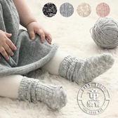 襪子 秋冬 寶寶 加厚 短襪 花線 鬆口 兒童 堆堆襪 BW