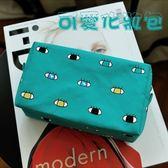 帆布化妝包手拿包-雜物收納方形趣味女包包3色73pp239[時尚巴黎]