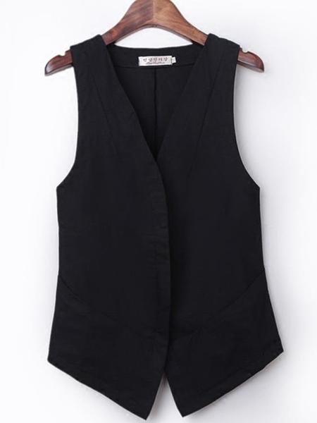外套/背心  亞麻馬甲短款夏新款韓版修身輕薄休閒背心馬甲棉麻無袖外套