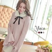 東京著衣【YOCO】荷葉袖長袖針織上衣(6027403)