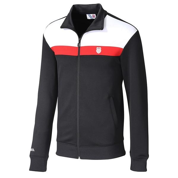 K-SWISS Shield Logo Panel Jacket 男款運動外套 104642008 黑紅白