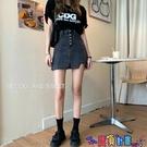 牛仔短裙 大碼胖mm高腰韓版牛仔短裙女2021春夏新款顯瘦包臀a字半身裙褲裙寶貝計畫 上新