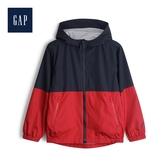 Gap男童活力撞色徽標LOGO連帽外套524939-海軍藍