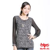 【BOBSON】女款雪紡花紋長袖上衣(33083-88)
