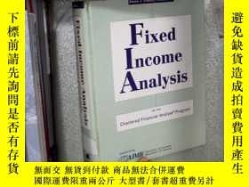 二手書博民逛書店FIXED罕見INCOME ANALYSIS 固定收益分析 01