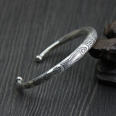 純銀手環(泰銀)-小魚雕花生日情人節禮物女手鐲73gg76【時尚巴黎】