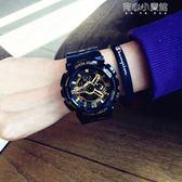 潮牌時尚潮流ulzzang手錶男女學生韓版簡約大氣電子錶運動防水 育心小賣館