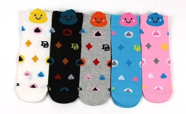 襪子【FSC005】個性便便卡通童襪 隱形短襪 SORT