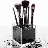 亞克力透明化妝刷收納筒眉筆美妝刷子口紅收納盒桌面防塵刷具桶