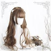 假髮女 原宿軟妹Lolita「Doreen多琳」65cm 姬髮劉海長卷假髮女【全館九折】