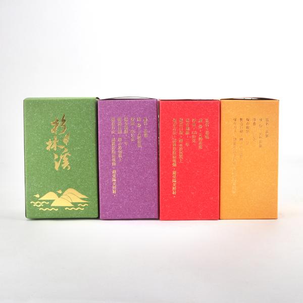 {杉林溪}四兩彩烙紙盒(50入/組) 共四款顏色 茶葉 台灣茶 杉林溪 阿里山 高山茶 特殊設計 造型盒