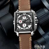 手錶 寶格拉Baogela手錶男方形石英錶潮多功能夜光防水大錶盤男士手錶 阿薩布魯