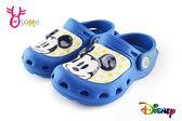 米奇布希鞋 LED電燈 拖鞋 懶人鞋 園丁鞋H5878#藍色◆OSOME奧森童鞋