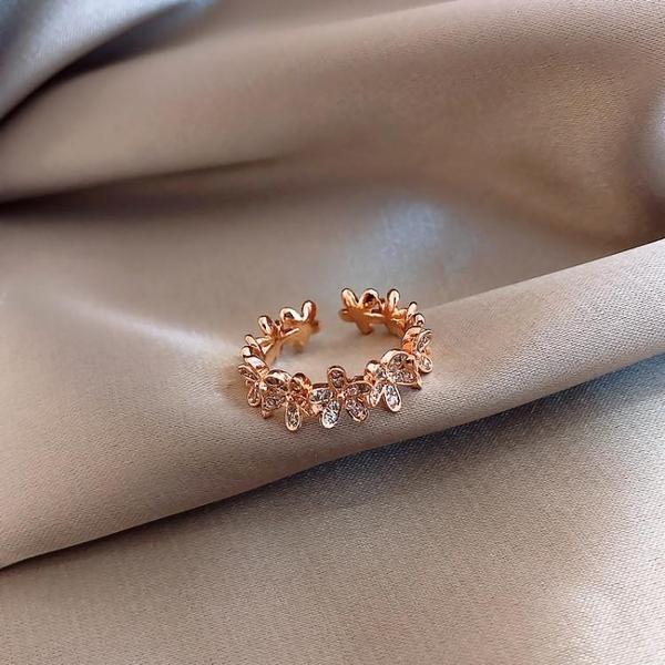 女士開口戒指女時尚個性ins潮食指指環冷淡風日繫輕奢網紅素圈 韓國時尚週