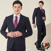 極品西服 經典紳士直條羊毛西裝_深藍(AS603-3G)