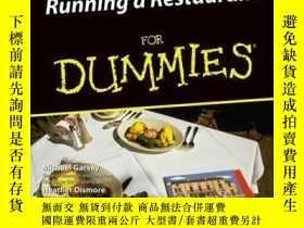 二手書博民逛書店Running罕見a Restaurant For DummiesY410016 Michael Garvey