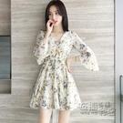 雪紡洋裝 超短雪紡洋裝女夏季新款小個子1...