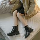 短靴 瘦瘦鞋馬丁靴女英倫風潮ins網紅短靴夏季百搭透氣薄款網靴子 晶彩 99免運