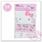 ♥小花花日本精品♥ Hello Kitty 兒童口罩多功能精美臉頭造型多圖純棉口日本限定3枚入45614101