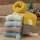 兒童襪子棉質秋冬款寶寶襪加厚刷毛毛圈襪男童女童中筒冬天毛巾襪