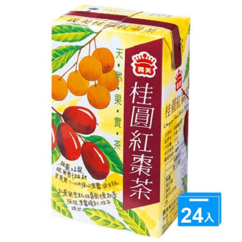 義美桂圓紅棗茶250ml*24【愛買】