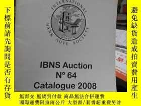 二手書博民逛書店IBNS罕見Auction N 64 Catalogue 2008Y5293 INTERNATIONAL BA