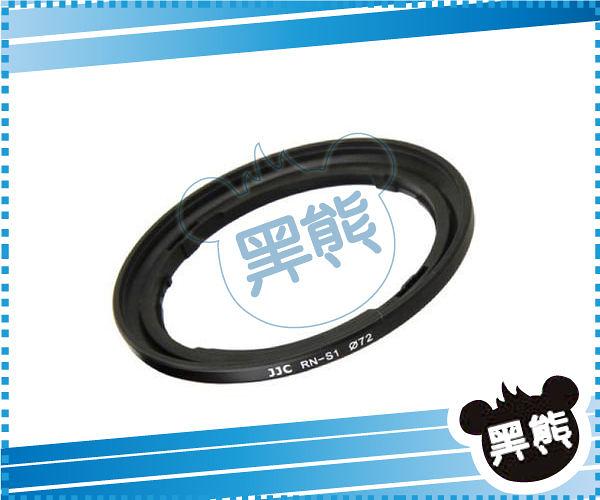 黑熊館 RN-S1 Fujifilm FinePix S1 72mm 濾鏡轉接環 轉接環 相容原廠