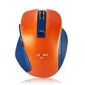 LEXMA 雷馬 M810R 極致人體工學 橘色 無線 滑鼠