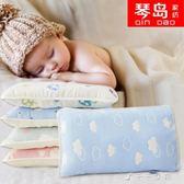 全棉六層紗布兒童枕頭3-6-9歲幼兒園寶寶嬰兒小孩蕎麥殼枕芯 千千女鞋YXS