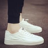新款男鞋子百搭板鞋正韓男士小白鞋潮流白鞋帆布潮鞋秋季