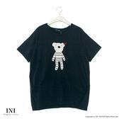 【INI】注目吸睛、好可愛小熊熊上衣.黑色