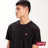 Levis 男款 短袖T恤 / 迷你刺繡Logo徽章 / 黑
