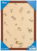 【拼圖總動員 PUZZLE STORY】迪士尼迷你1000P專用框(咖) 日本進口/Tenyo/木框/29.7*42cm