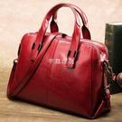 女包純皮2021新款女定型包歐美百搭潮單肩斜背包大容量手提包 SUPER SALE 快速出貨