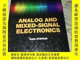 二手書博民逛書店Analog罕見and Mixed-Signal Electronics模擬和混合信號電子學【英文原版精裝16開】
