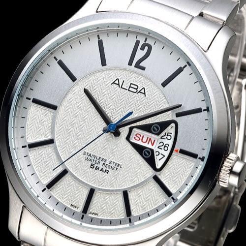 ALBA 乘風翱翔時尚潮流男錶-白(AV3217X1)【屈臣氏】