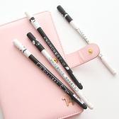 ✭慢思行✭【P69】創意文字個性0.5中性筆 黑色 文具 學生 辦公用品 書寫筆 水性筆