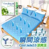 保潔墊/雙人床包式(無枕套) 台灣製、花蓮涼爽玉、吸濕排汗、可機洗、柔軟舒適   #涼感保潔墊