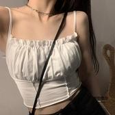 夏季韓版修身顯瘦辣妹內搭外穿性感抹胸小可愛打底小背心女【聚物優品】