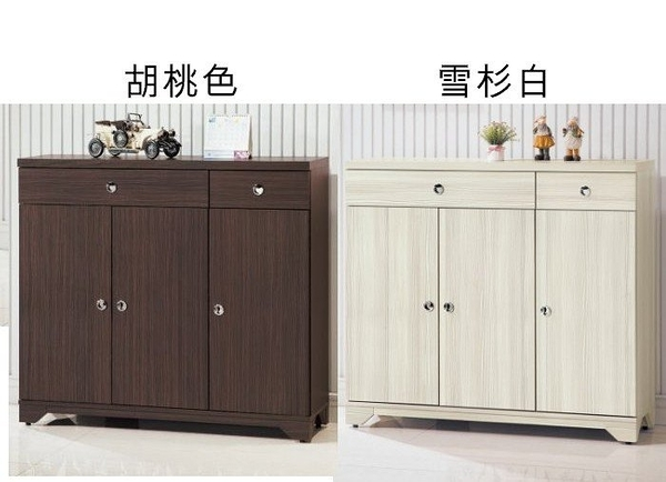 【新北大】P830-5胡桃色/ P832-2雪杉白 日式和風4尺鞋櫃-2019購