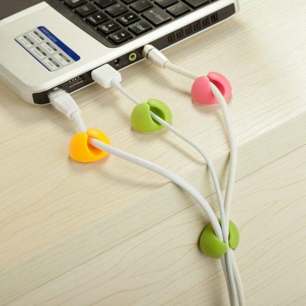 【00068】 桌面固線器 耳機 傳輸線 充電線 收納捲線 整線