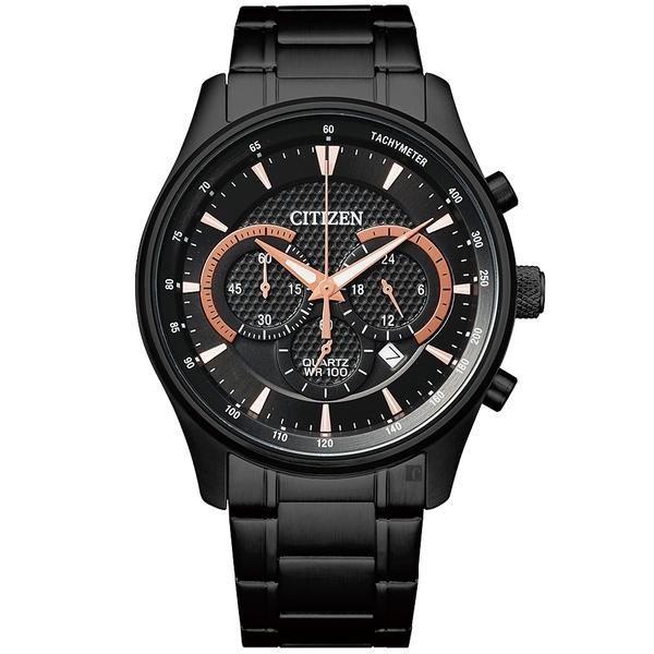 CITIZEN 星辰 Chronograph 計時手錶-黑/42mm(AN8195-58E)