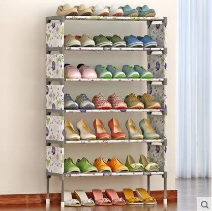 簡易多層鞋架 組裝防塵鞋櫃簡約現代經濟型鐵藝收納架(主圖款)