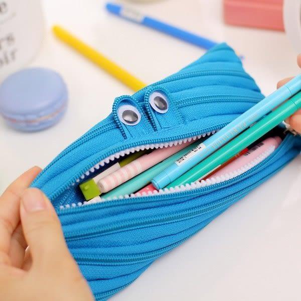 【發現。好貨】韓國創意小怪獸拉鏈筆袋文具簡約可愛大容量帆布 多拉鍊筆袋