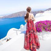 【618好康鉅惠】巴厘島沙灘裙女夏2018新款海邊度假連身裙