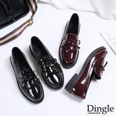 Dingle丁果ღ英倫風流蘇漆皮紳士鞋小皮鞋(二色35-39)