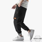 魔鬼氈嘻哈大碼褲子韓版學生工裝褲男寬鬆束腳【時尚大衣櫥】