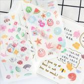 和紙貼紙 和風 日式 創意 手賬 裝飾 學生 DIY 日記 貼畫 6張入